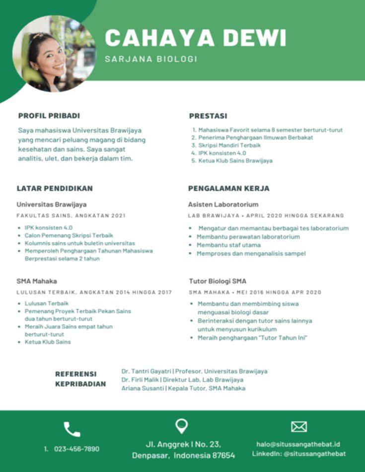 Contoh CV yang Benar