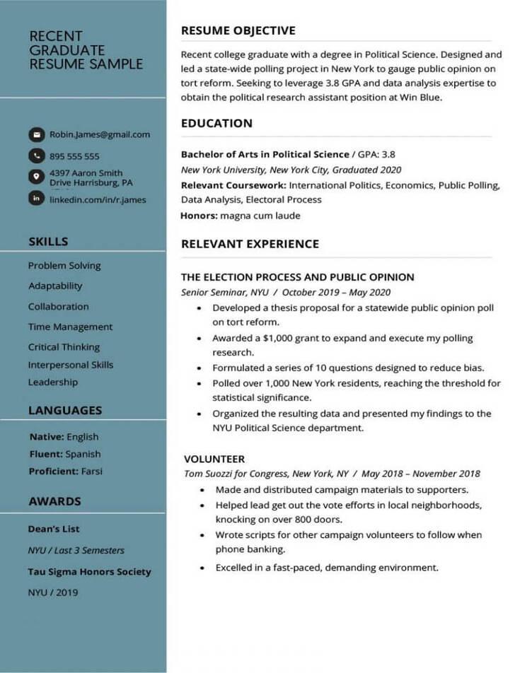 Contoh CV Fresh Graduate yang Baik