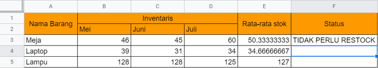 Rumus Excel Multi IF